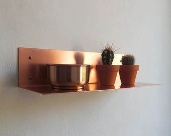 Copper wall shelf copper wall shelf