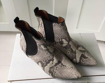 Amazing snakeskin full leather boots EU39