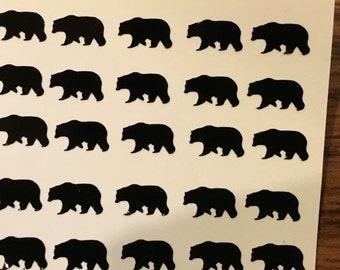 Bear Nail Decal