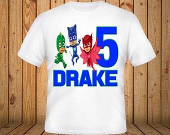 PJ Mask Birthday Shirt