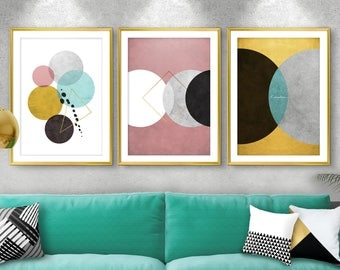 Set Of 3 Prints, Bedroom Wall Art, Set 3, Wall Art, Printable