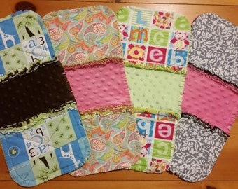 Quilted Rag Burp Cloths with Blanket