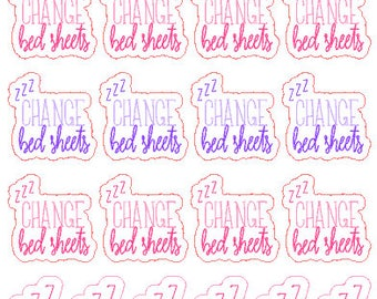 Change Bed Sheets // Diary // Stickers // Planner // Happy Planner