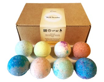 Mini Bath Bomb Gift Sampler Set of 8 x 2.5 oz.  Great gift for any occasion!! Father's Day, birthday etc