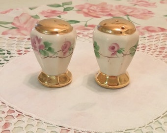 Hand Painted Pretty Little Salt & Pepper Shakers
