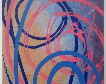 Rain, Dance, Abstract Painting, Canvas Art, Abstract Art, Contemporary Art, Fine Art