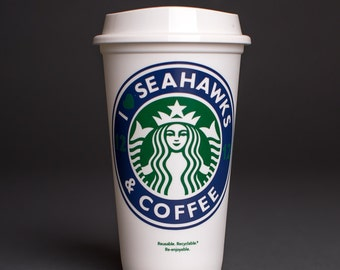 Seahawks and Coffee reusable cup