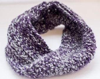Cozy Crochet Cowl in Purple