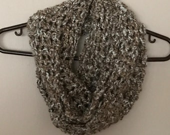 HandCrafted Crocheted Sand Infinity Winter Scarf