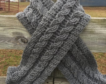 Cable Crochet Scarf