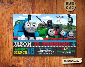 Thomas Train Invitation / Thomas Train Birthday / Thomas Train Party / Thomas Train Card / Thomas Train Printable / Thomas Train