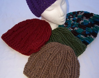 Crocheted Cable Hat
