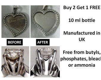 Jewellery Cleaner Cleaning Solution for Gold White Gold Silver Platinum Gems etc