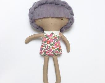 Handmade Rag Doll - 'Nylah' in Liberty Print Fabric