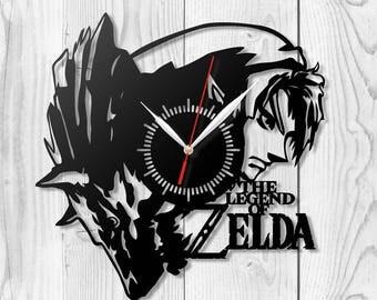 Zelda clock Wooden clock HDF clock Acrylic clock Housewarming gift Wall art Birthday gift Wall clock Home decor Wood clock Gift ideas Z-2