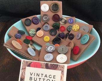 Vintage Button Thumb Tacks (SALE!!)