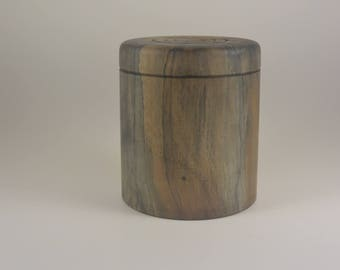 Lathe turned lidded box