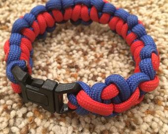 Mixed Cobra Weave Paracord Bracelet