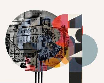 Sanary-sur-Mer, Côte d'azur, France, south, photography, Mixedmedia, assemblage, port, graphic, elements, mural, artwork