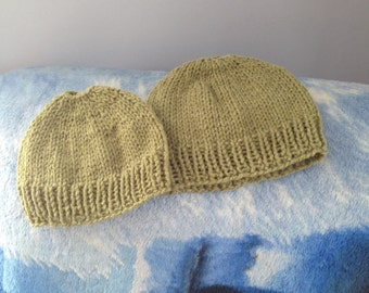 Mom and Daughter bun hats
