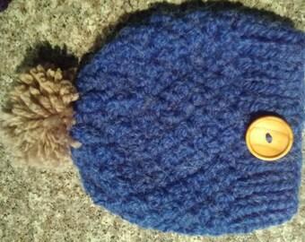 Warm blue beanie