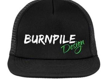 Burnpile Design Snapback Trucker Hat