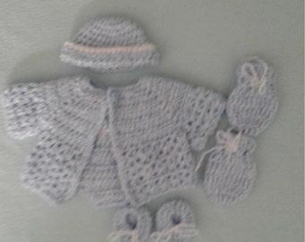 Preemie boy or doll rompers set