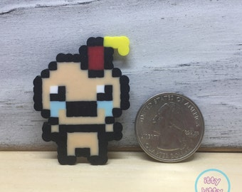 Miniature perler magnet   Binding of Isaac Afterbirth Judas perler   miniature perler beads   Indie game magnet   gifts for gamers
