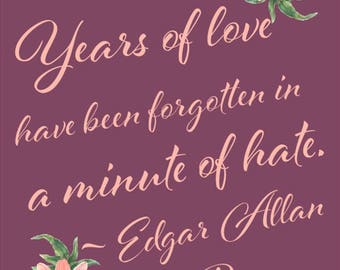 Edgar Allan Poe Quote *INSTANT DOWNLOAD*