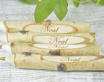 Engraved Twig Pen  Personalised Twig Pen  Wooden Engraved Pen  Rustic Pen Wedding Pen  Wedding Favours  Wooden Pen  Tree Branch Pen