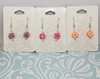 Circle Flower Earrings