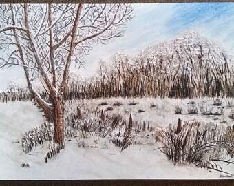 Custom treescape painting