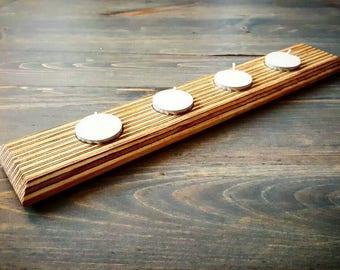 Endgrain plywood tea light holder
