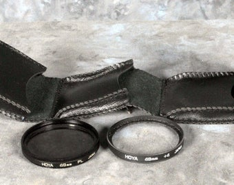 Lot of 2 Hoya 49mm Glass Lens Filters with case