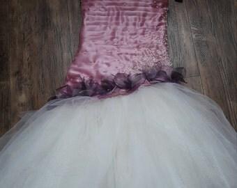 satin pink girl dress