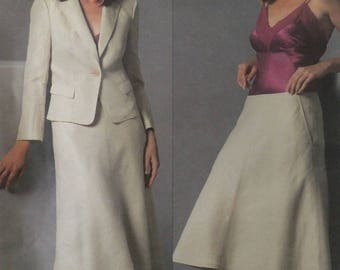 Vogue Sewing Pattern V2895 DKNY Career Skirt Jacket Size E 14 16 18 Uncut