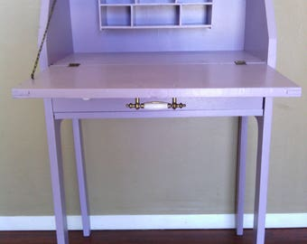 Lavender Pastel Purple Colored Small Stationary / Laptop / Craft Desk