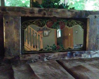 Driftwood Mirror,Driftwood Bar Mirror,Rustic Driftwood Mirror, Reclaimed Wood Mirror, Rustic Reclaimed Driftwood,Wedding Decor, Lodge Decor,
