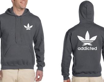 cool weed Leaf  hoodie stoner Day Sweatshirt