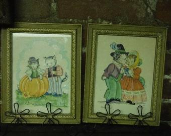 2, Georgie Porgie Litho, Peter Peter Pumpkin Eater By K. Townsend