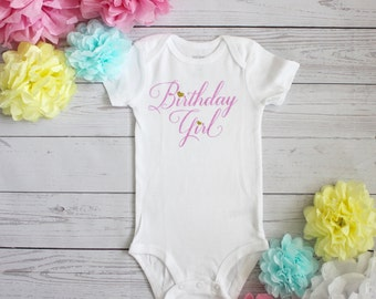 Birthday girl Bodysuit | First birthday outfit, Birthday girl outfit, First birthday, Birthday girl, Glitter gold, Birthday