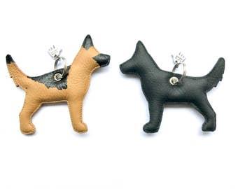 German Shepherd leather pendant