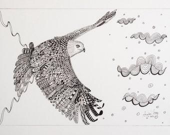 "Illustration original milano. ""Flying"""