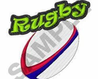 Rugby - Machine Embroidery Design