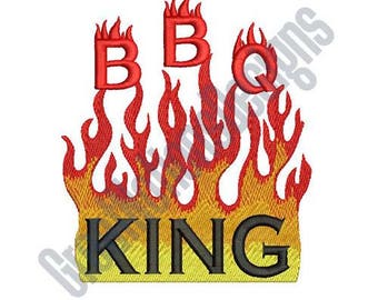 BBQ King Large Embroidery Design