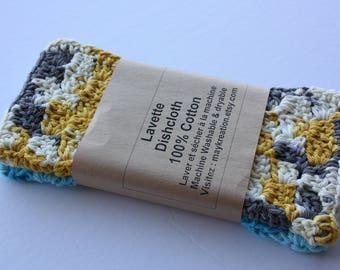 Set of 2 Crochet dish towels, dishcloths, Washcloths, 100% cotton