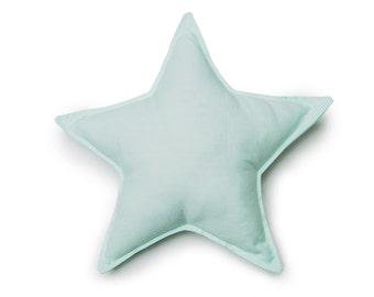 Pastel Mint Star Pillow, Star Cushion, Star Nursery Decor, Baby Pillow, kids pillows,Mint Nursery Decor, children's pillow, Baby Shower Gift