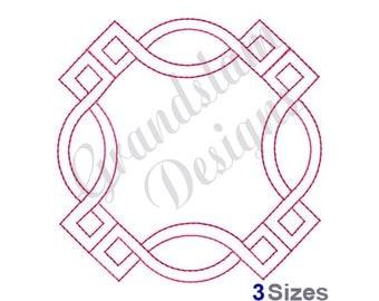 Decorative Square Quilt - Machine Embroidery Design