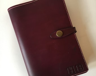 Handmade Leather Note Book Cover with lined Notebook
