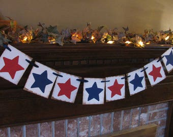 Star Banner/4th of July/Independence Day/Memorial Day/Red, White and Blue/Veteren's Day/Party Decoration/Photo Prop